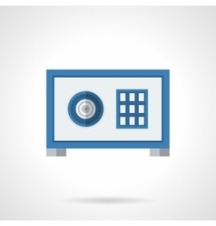 Metal safe flat color icon vector image