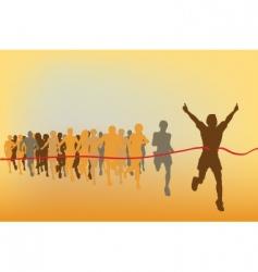 race winner vector image vector image
