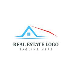 real estate logotype template construction logo vector image