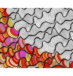 abstract seamless fantasy pattern hand vector image vector image