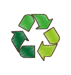 arrows recycle symbol isolated icon vector image