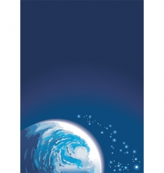 background with space and planet vector image vector image