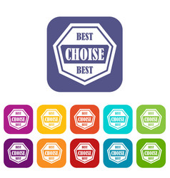 best choise label icons set vector image vector image