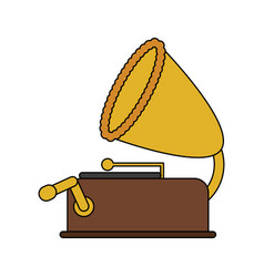 color image old gramophone musical sound icon vector image vector image