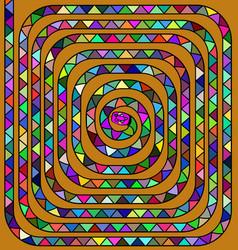 Colored spiral snake vector