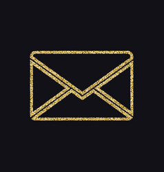 letter of mail icon with glitter effect isolated vector image vector image