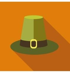 Pilgrim hat icon flat style vector image vector image