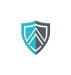 shield letter A line construction logo vector image