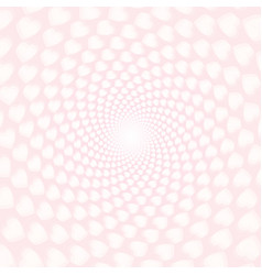 twisted hearts with tunnel effect vector image vector image