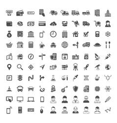 Universal Icon Set 100 icons vector image