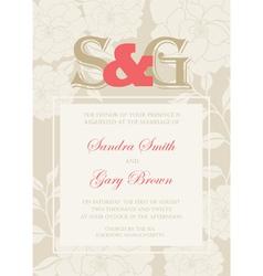 Wedding Invitation floral card vector image