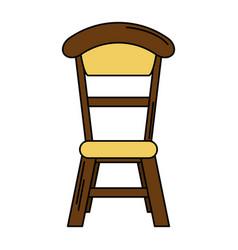 wooden chair vintage design vector image