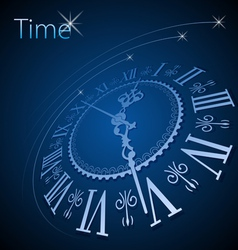 Abstract clock background - conceptual vector image vector image