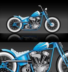 blue custom bobber on black background vector image