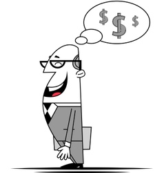 Businessman and money vector image vector image