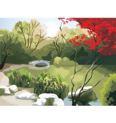 Chinese landscape vector image vector image
