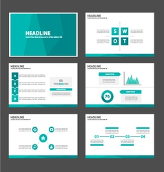 Green Polygon presentation templates Infographic vector image vector image