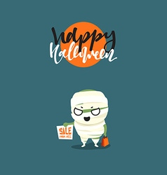 Holiday Happy Halloween Funny doodle characters vector image