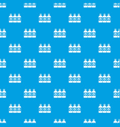 printer ink bottles pattern seamless blue vector image vector image