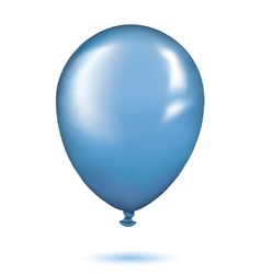 Realistic blue balloon vector image