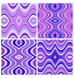 Set of Seamless Abstract Wavy Backgrounds vector image vector image