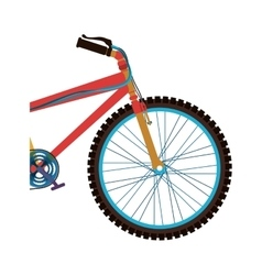 Bicycle sport vehicle vector image