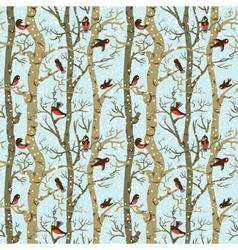birds on trees vector image