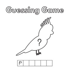 cartoon parrot guessing game vector image