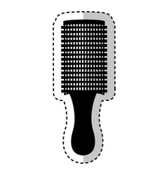 hair brush isolated icon vector image vector image