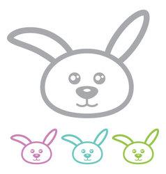 Rabbit bunny vector image