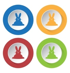 set of four icons - Easter bunny vector image vector image