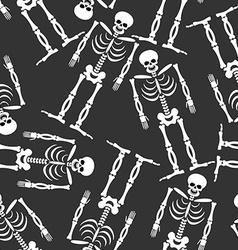 Skeleton seamless pattern Bones and skull ornament vector image vector image
