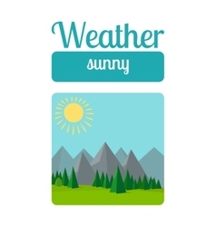 Sunny weather vector image