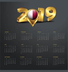 2019 calendar template malta country map golden vector