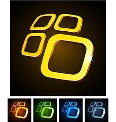 3d vibrant emblems vector