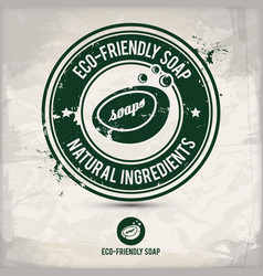 alternative eco friendly soap stamp vector image