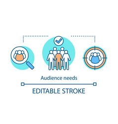 Audience needs concept icon vector