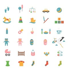 Babies toys icons vector