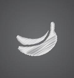 Banana sketch logo doodle icon vector