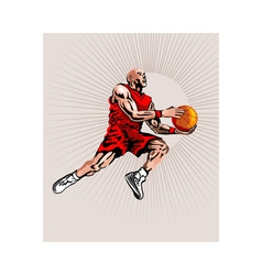 Basketball Player Jumping vector