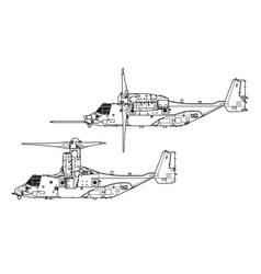 bell boeing v-22 osprey vector image