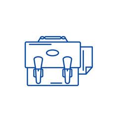 business portfolio line icon concept business vector image