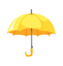 cartoon style of yellow umbrella vector image