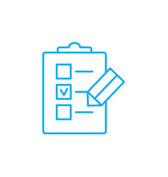 check-list linear icon concept check-list line vector image