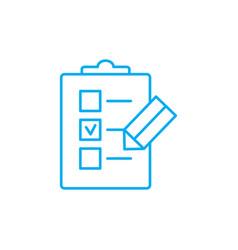 Check-list linear icon concept check-list line vector
