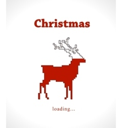 Christmas reindeer progress loading bar vector image