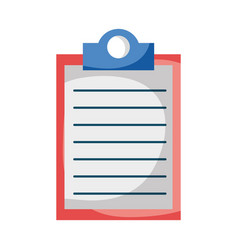 clipboard document checklist isolated icon design vector image