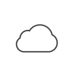 cloud weather icon vector image