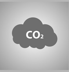 Co2 emissions icon c02 cloud vector