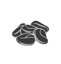 Cola nut glyph icon vector